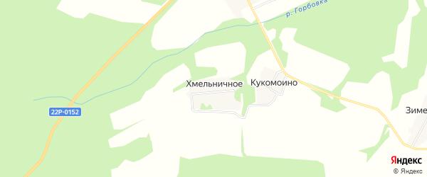 Карта деревни Хмельничного в Нижегородской области с улицами и номерами домов