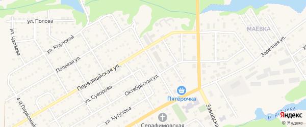 Улица Любы Левиковой на карте Пучежа с номерами домов