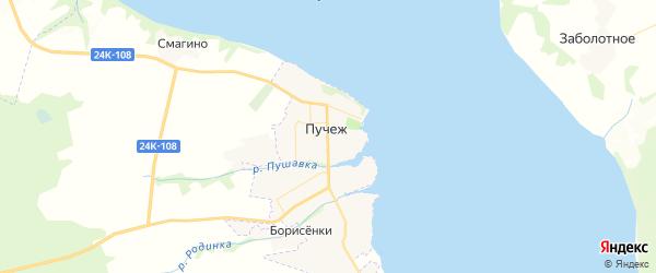 Карта Пучежа с районами, улицами и номерами домов: Пучеж на карте России