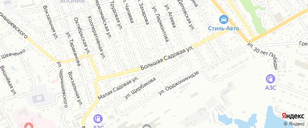 Большая Садовая улица на карте Балашова с номерами домов