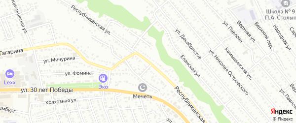 Республиканская улица на карте Балашова с номерами домов