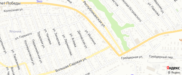 Улица Исипина на карте Балашова с номерами домов