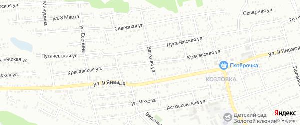 Красавская улица на карте Балашова с номерами домов