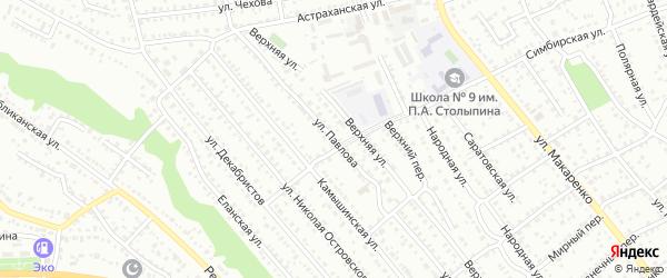 Улица Павлова на карте Балашова с номерами домов