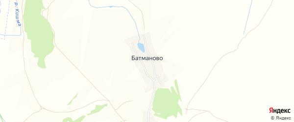 Карта деревни Батманово в Нижегородской области с улицами и номерами домов