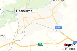 Карта г. Балашов Саратовская область
