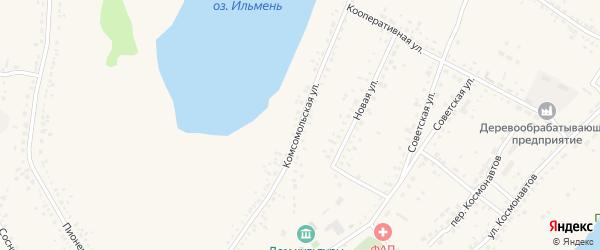 Комсомольская улица на карте Репного села Саратовской области с номерами домов