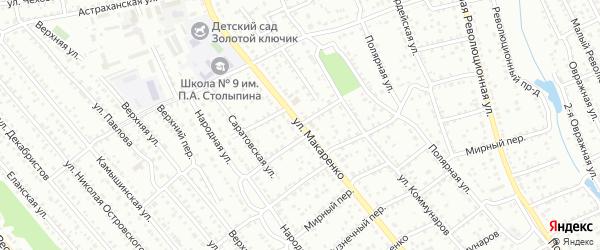 Улица Макаренко на карте Балашова с номерами домов