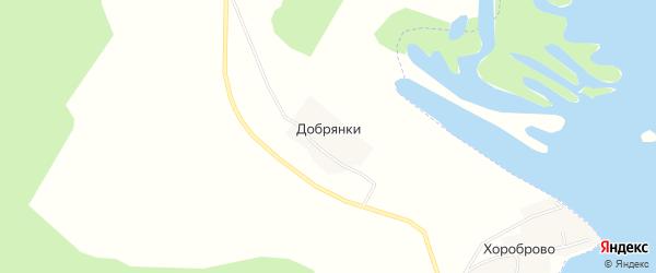 Карта деревни Добрянки в Костромской области с улицами и номерами домов