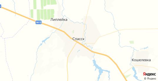 Карта Спасска с улицами и домами подробная. Показать со спутника номера домов онлайн