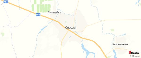 Карта Спасска с районами, улицами и номерами домов