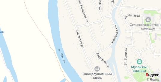 Заводская улица в Темникове с номерами домов на карте. Спутник и схема онлайн