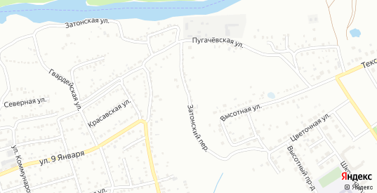 Затонский переулок в Балашове с номерами домов на карте. Спутник и схема онлайн