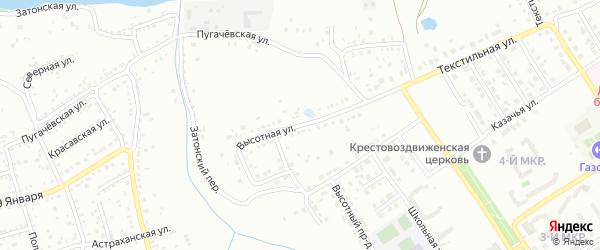 Высотная улица на карте Балашова с номерами домов