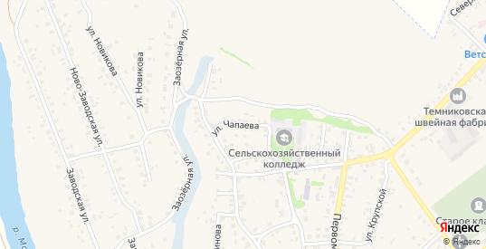Улица Чапаева в Темникове с номерами домов на карте. Спутник и схема онлайн