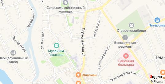 Первомайская улица в Темникове с номерами домов на карте. Спутник и схема онлайн