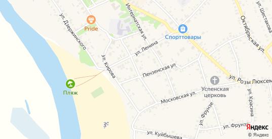 Улица Пушкина в Темникове с номерами домов на карте. Спутник и схема онлайн