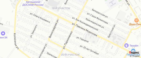 Улица Жуковского на карте Михайловки с номерами домов