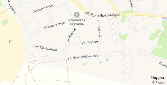 Улица Фрунзе в Темникове с номерами домов на карте. Спутник и схема онлайн
