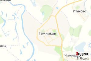 Карта г. Темников Республика Мордовия