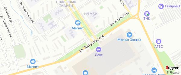 Улица Энтузиастов на карте Балашова с номерами домов