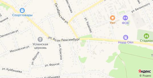 Улица Розы Люксембург в Темникове с номерами домов на карте. Спутник и схема онлайн