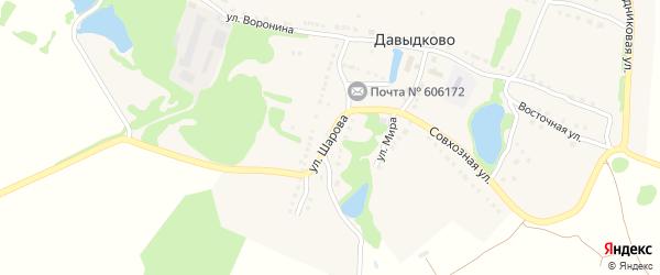 Улица Шарова на карте села Давыдково Нижегородской области с номерами домов