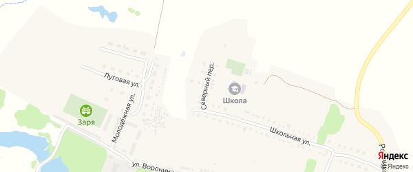 Северный переулок на карте села Давыдково Нижегородской области с номерами домов