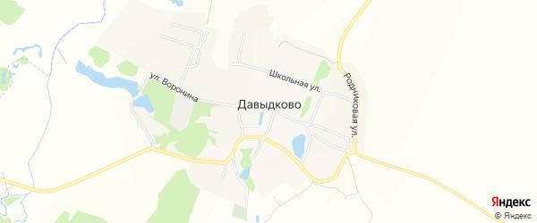 Территория Засека на карте села Давыдково Нижегородской области с номерами домов