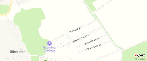 Луговая улица на карте территории Яблоньки на Троце Нижегородской области с номерами домов