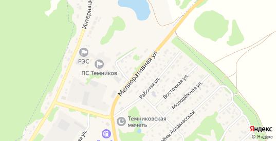 Мелиоративная улица в Темникове с номерами домов на карте. Спутник и схема онлайн