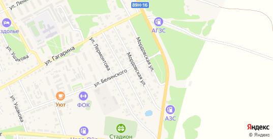 Мордовская улица в Темникове с номерами домов на карте. Спутник и схема онлайн