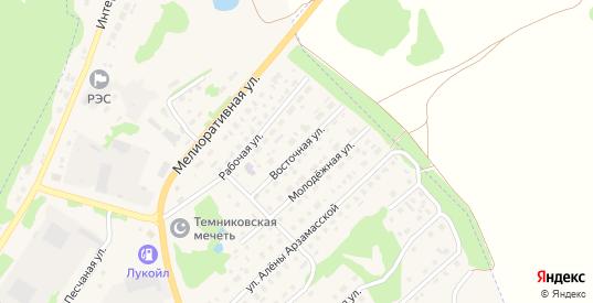 Восточная улица в Темникове с номерами домов на карте. Спутник и схема онлайн