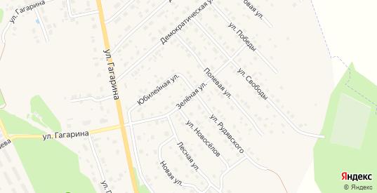 Зеленая улица в Темникове с номерами домов на карте. Спутник и схема онлайн