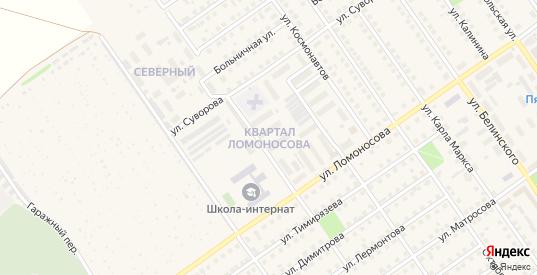 Квартал Ломоносова в Чкаловске с номерами домов на карте. Спутник и схема онлайн