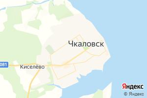 Карта г. Чкаловск Нижегородская область