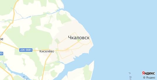 Карта Чкаловска с улицами и домами подробная. Показать со спутника номера домов онлайн