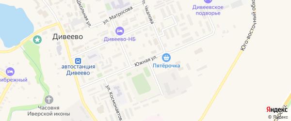 Южная улица на карте села Дивеево Нижегородской области с номерами домов