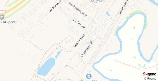 Переулок Титова в Ворсме с номерами домов на карте. Спутник и схема онлайн