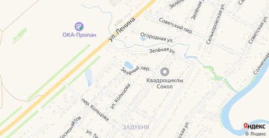 Зеленый переулок в Ворсме с номерами домов на карте. Спутник и схема онлайн