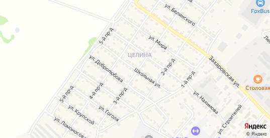 Школьная улица в Ворсме с номерами домов на карте. Спутник и схема онлайн