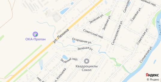 Огородная улица в Ворсме с номерами домов на карте. Спутник и схема онлайн