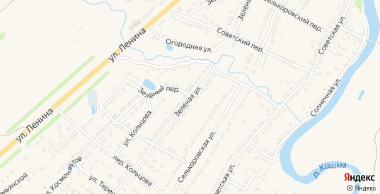 Зеленая улица в Ворсме с номерами домов на карте. Спутник и схема онлайн