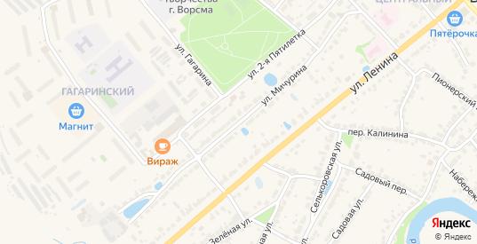 Улица Мичурина в Ворсме с номерами домов на карте. Спутник и схема онлайн