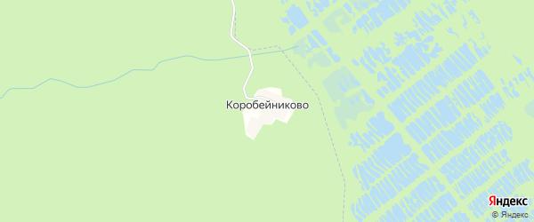 Карта деревни Коробейниково в Нижегородской области с улицами и номерами домов