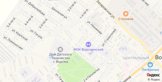 Парковый переулок в Ворсме с номерами домов на карте. Спутник и схема онлайн