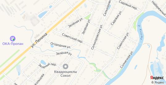 Советский переулок в Ворсме с номерами домов на карте. Спутник и схема онлайн