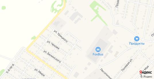 Улица Чернышевского в Ворсме с номерами домов на карте. Спутник и схема онлайн
