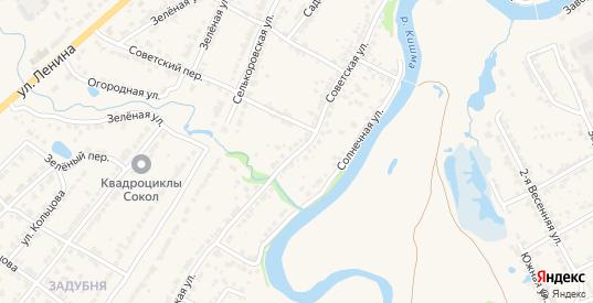 Советская улица в Ворсме с номерами домов на карте. Спутник и схема онлайн
