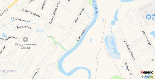 Солнечная улица в Ворсме с номерами домов на карте. Спутник и схема онлайн